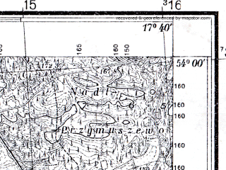 Reduced fragment of topographic map pl--wig--025k--P33S25-B--(1937)--N054-00_E017-30--N053-55_E017-40