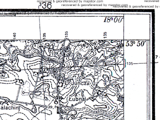 Reduced fragment of topographic map pl--wig--025k--P33S26-G--(1931)--N053-50_E017-50--N053-45_E018-00; towns and cities Czersk