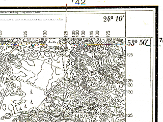 Reduced fragment of topographic map pl--wig--025k--P33S38-H--(1937)--N053-50_E024-00--N053-45_E024-10