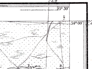 Reduced fragment of topographic map pl--wig--025k--P33S41-A--(1938)--N054-00_E025-20--N053-55_E025-30