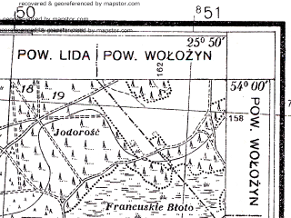 Reduced fragment of topographic map pl--wig--025k--P33S41-C--(1938)--N054-00_E025-40--N053-55_E025-50