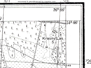 Reduced fragment of topographic map pl--wig--025k--P33S42-A--(1938)--N054-00_E025-50--N053-55_E026-00