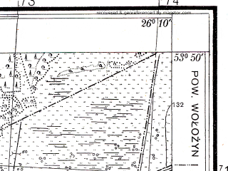 Reduced fragment of topographic map pl--wig--025k--P33S42-H--(1938)--N053-50_E026-00--N053-45_E026-10