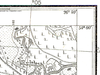 Reduced fragment of topographic map pl--wig--025k--P33S43-B--(1938)--N054-00_E026-30--N053-55_E026-40