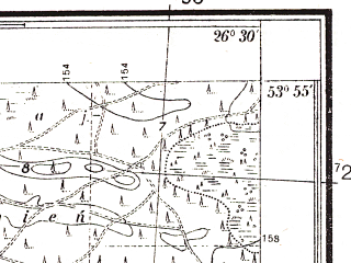 Reduced fragment of topographic map pl--wig--025k--P33S43-D--(1938)--N053-55_E026-20--N053-50_E026-30
