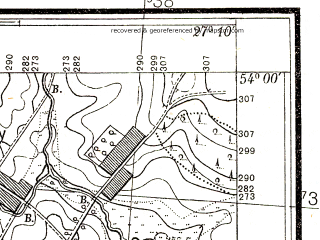 Reduced fragment of topographic map pl--wig--025k--P33S44-B--(1938)--N054-00_E027-00--N053-55_E027-10; towns and cities Rakov