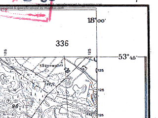 Reduced fragment of topographic map pl--wig--025k--P34S26-A--(1932)--N053-45_E017-50--N053-40_E018-00