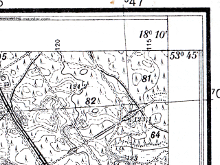 Reduced fragment of topographic map pl--wig--025k--P34S26-B--(1933)--N053-45_E018-00--N053-40_E018-10