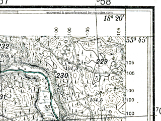 Reduced fragment of topographic map pl--wig--025k--P34S26-C--(1933)--N053-45_E018-10--N053-40_E018-20
