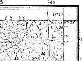 Reduced fragment of topographic map pl--wig--025k--P34S26-H--(1933)--N053-35_E018-00--N053-30_E018-10