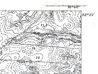 Reduced fragment of topographic map pl--wig--025k--P34S27-H--(1932)--N053-35_E018-30--N053-30_E018-40