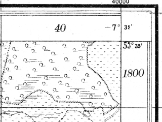 Reduced fragment of topographic map pl--wig--025k--P34S35-H--(1930)--N053-35_E022-30--N053-30_E022-40