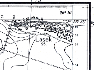 Reduced fragment of topographic map pl--wig--025k--P34S42-H--(1932)--N053-35_E026-00--N053-30_E026-10