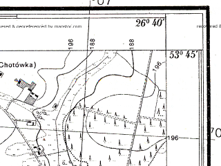 Reduced fragment of topographic map pl--wig--025k--P34S43-B--(1938)--N053-45_E026-30--N053-40_E026-40