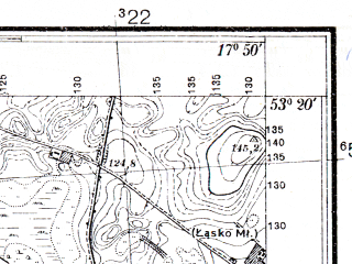 Reduced fragment of topographic map pl--wig--025k--P35S25-I--(1937)--N053-20_E017-40--N053-15_E017-50