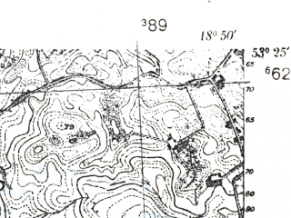 Reduced fragment of topographic map pl--wig--025k--P35S27-F--(1939)--N053-25_E018-40--N053-20_E018-50