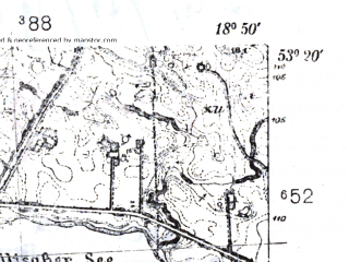 Reduced fragment of topographic map pl--wig--025k--P35S27-I--(1939)--N053-20_E018-40--N053-15_E018-50