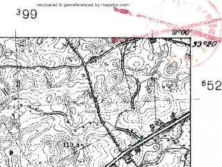 Reduced fragment of topographic map pl--wig--025k--P35S28-G--(1939)--N053-20_E018-50--N053-15_E019-00; towns and cities Wabrzezno