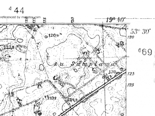 Reduced fragment of topographic map pl--wig--025k--P35S29-B--(1939)--N053-30_E019-30--N053-25_E019-40