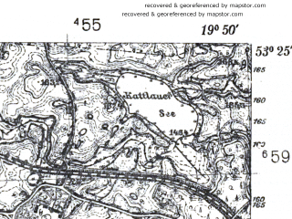 Reduced fragment of topographic map pl--wig--025k--P35S29-F--(1939)--N053-25_E019-40--N053-20_E019-50
