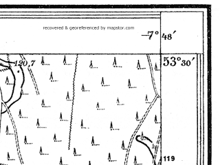 Reduced fragment of topographic map pl--wig--025k--P35S35-A--(1927)--N053-30_E022-20--N053-25_E022-30