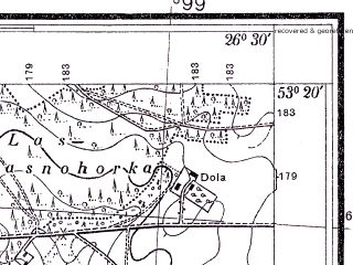 Reduced fragment of topographic map pl--wig--025k--P35S43-G--(1934)--N053-20_E026-20--N053-15_E026-30