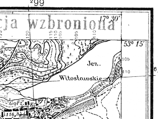 Reduced fragment of topographic map pl--wig--025k--P36S25-A--(1939)--N053-15_E017-20--N053-10_E017-30