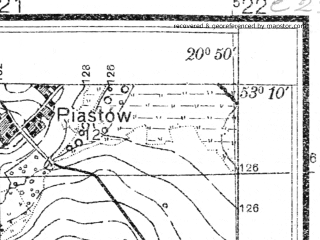 Reduced fragment of topographic map pl--wig--025k--P36S31-F--(1931)--N053-10_E020-40--N053-05_E020-50