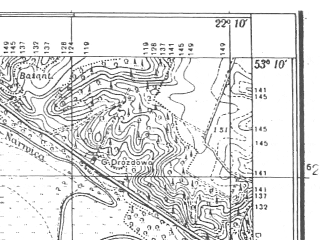 Reduced fragment of topographic map pl--wig--025k--P36S34-E--(1934)--N053-10_E022-00--N053-05_E022-10