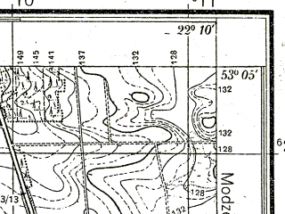 Reduced fragment of topographic map pl--wig--025k--P36S34-H--(1938)--N053-05_E022-00--N053-00_E022-10