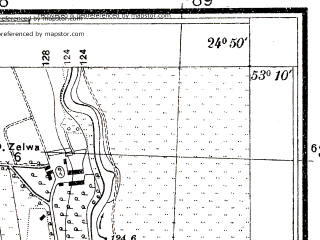 Reduced fragment of topographic map pl--wig--025k--P36S39-F--(1931)--N053-10_E024-40--N053-05_E024-50