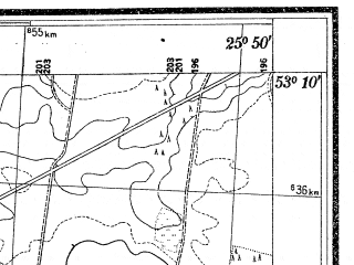 Reduced fragment of topographic map pl--wig--025k--P36S41-F--(1938)--N053-10_E025-40--N053-05_E025-50