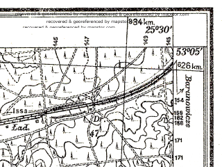 Reduced fragment of topographic map pl--wig--025k--P36S41-G--(1938)--N053-05_E025-20--N053-00_E025-30