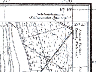 Reduced fragment of topographic map pl--wig--025k--P37S22-E--(1935)--N052-55_E016-00--N052-50_E016-10; towns and cities Krzyz