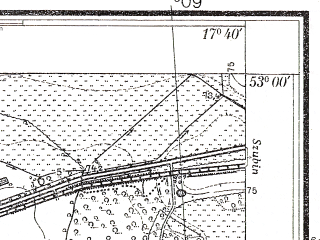 Reduced fragment of topographic map pl--wig--025k--P37S25-B--(1934)--N053-00_E017-30--N052-55_E017-40