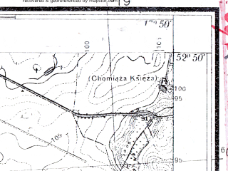 Reduced fragment of topographic map pl--wig--025k--P37S25-I--(1934)--N052-50_E017-40--N052-45_E017-50