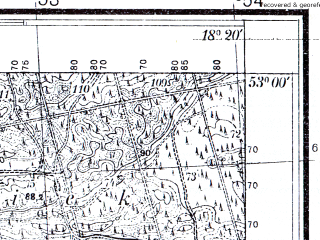Reduced fragment of topographic map pl--wig--025k--P37S26-C--(1934)--N053-00_E018-10--N052-55_E018-20