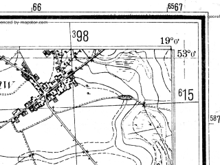 Reduced fragment of topographic map pl--wig--025k--P37S28-A--(1940)--N053-00_E018-50--N052-55_E019-00; towns and cities Czernikowo