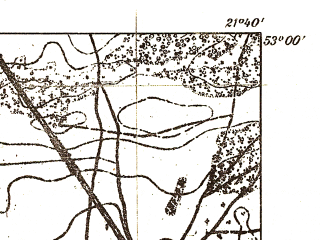 Reduced fragment of topographic map pl--wig--025k--P37S33-B--(1932)--N053-00_E021-30--N052-55_E021-40