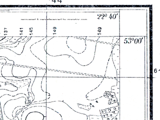 Reduced fragment of topographic map pl--wig--025k--P37S35-B--(1933)--N053-00_E022-30--N052-55_E022-40; towns and cities Wysokie Mazowieckie