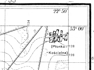 Reduced fragment of topographic map pl--wig--025k--P37S35-C--(1935)--N053-00_E022-40--N052-55_E022-50
