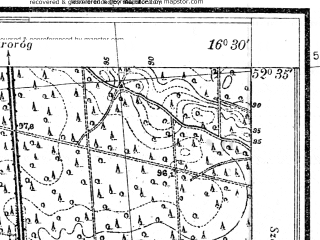Reduced fragment of topographic map pl--wig--025k--P38S23-G--(1931)--N052-35_E016-20--N052-30_E016-30