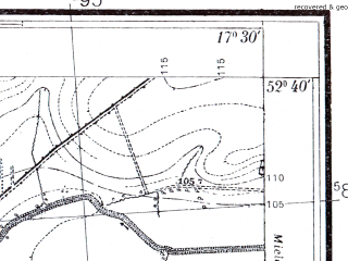 Reduced fragment of topographic map pl--wig--025k--P38S25-D--(1934)--N052-40_E017-20--N052-35_E017-30