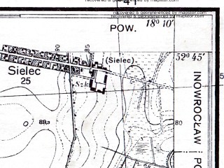 Reduced fragment of topographic map pl--wig--025k--P38S26-B--(1934)--N052-45_E018-00--N052-40_E018-10