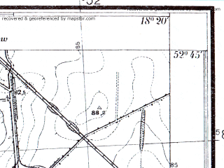 Reduced fragment of topographic map pl--wig--025k--P38S26-C--(1934)--N052-45_E018-10--N052-40_E018-20