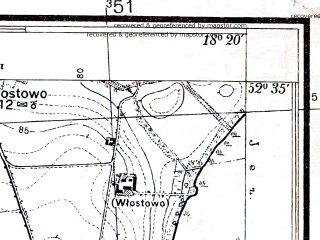 Reduced fragment of topographic map pl--wig--025k--P38S26-I--(1934)--N052-35_E018-10--N052-30_E018-20
