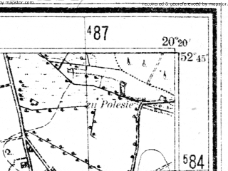 Reduced fragment of topographic map pl--wig--025k--P38S30-C--(1952)--N052-45_E020-10--N052-40_E020-20