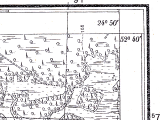 Reduced fragment of topographic map pl--wig--025k--P38S39-F--(1933)--N052-40_E024-40--N052-35_E024-50