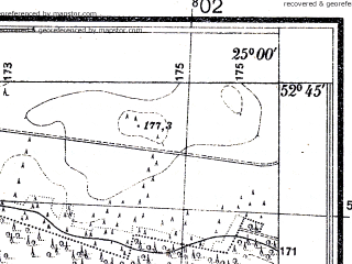 Reduced fragment of topographic map pl--wig--025k--P38S40-A--(1931)--N052-45_E024-50--N052-40_E025-00