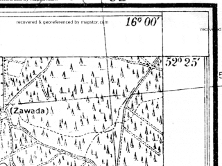 Reduced fragment of topographic map pl--wig--025k--P39S22-D--(1935)--N052-25_E015-50--N052-20_E016-00